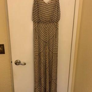 Adrianna Pappell beaded long evening dress